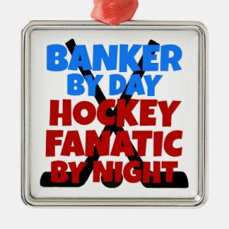 Hockey Lover Banker Metal Ornament