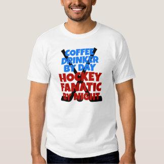 Hockey Lover Coffee Drinker Tee Shirts