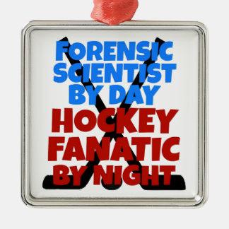 Hockey Lover Forensic Scientist Metal Ornament