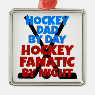 Hockey Lover Hockey Dad Metal Ornament