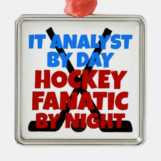Hockey Lover IT Analyst Metal Ornament