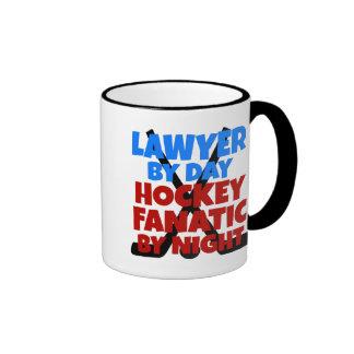 Hockey Lover Lawyer Ringer Mug