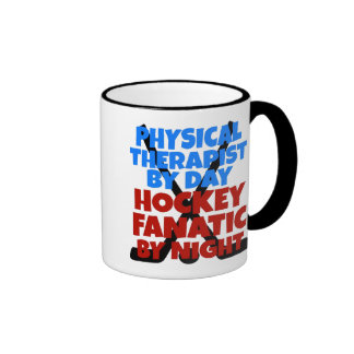 Hockey Lover Physical Therapist Ringer Mug
