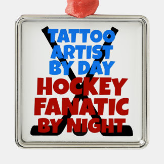 Hockey Lover Tattoo Artist Metal Ornament