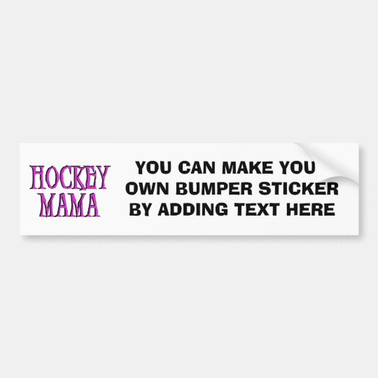 Hockey Mama Hot Pink T-shirts and Gifts Bumper Sticker