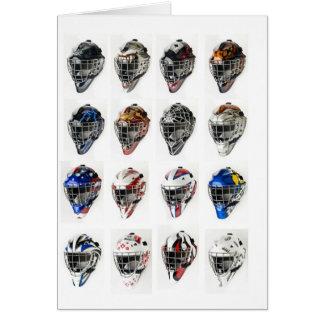 Hockey Masks Greeting Card