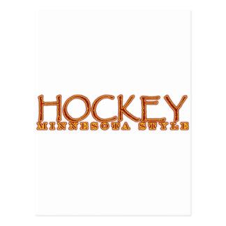 Hockey Minnesota Style Postcard