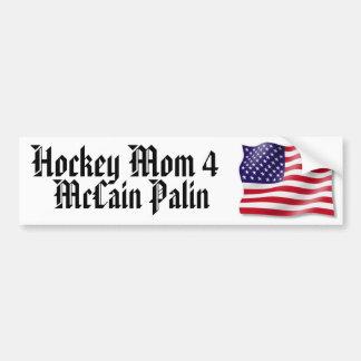 Hockey Mom 4 McCain Palin Bumper Sticker