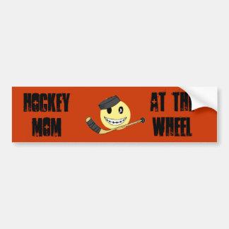 Hockey mom driving! bumper sticker