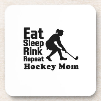 Hockey Mom Hockey Lover Funny Gifts Coaster