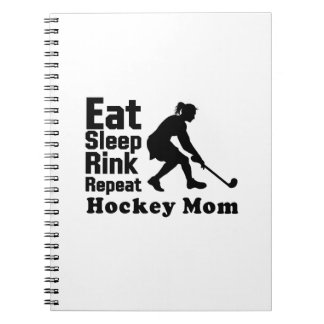Hockey Mom Hockey Lover Funny Gifts Notebook
