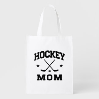 Hockey Mom Reusable Grocery Bag