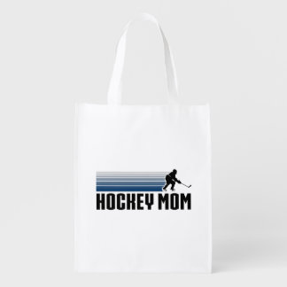 Hockey Mom Reusable Grocery Bags