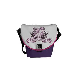 Hockey Mom Shield Design Messenger Bag