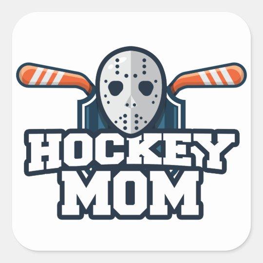 Hockey Mom Square Sticker