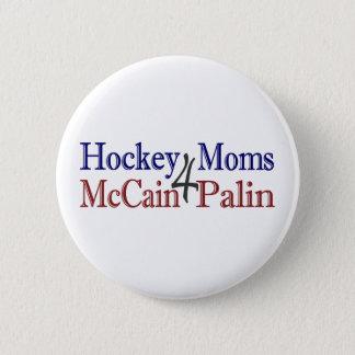Hockey Moms 4 McCain Palin 2 Inch Round Button