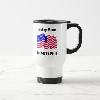 Hockey Moms for Sarah palin travel mug