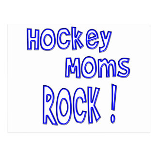 Hockey Moms Rock ! (blue) Postcard