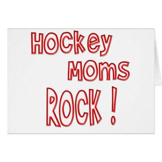 Hockey Moms Rock ! (red) Greeting Card