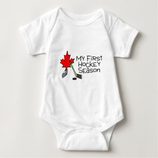 Hockey My First Hockey Season (Canada) Baby Bodysuit