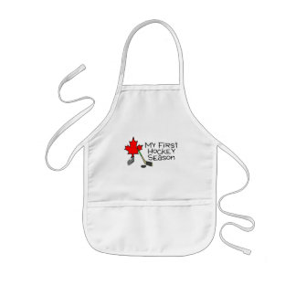 Hockey My First Hockey Season (Canada) Kids Apron