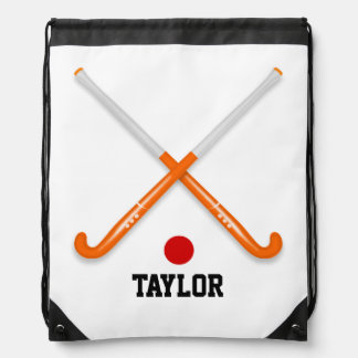 Hockey Name Template Customize Drawstring Bag