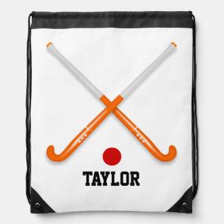 Hockey Name Template Customize Drawstring Bag