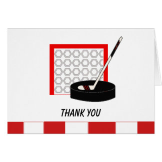 Hockey Net Thank You Note Card