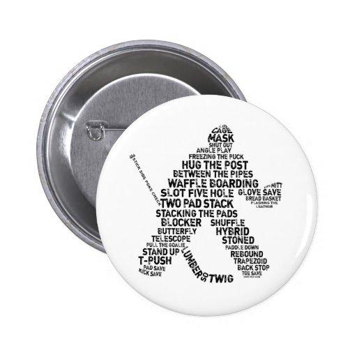 Hockey Netminder Pinback Button