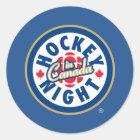 Hockey Night in Canada logo Classic Round Sticker