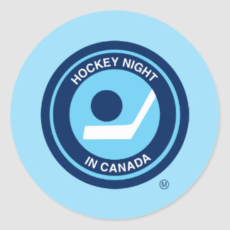 Hockey Night in Canada retro logo Classic Round Sticker