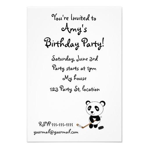 Hockey panda custom invite