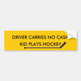 HOCKEY PARENTS OUT OF CASH BUMPER STICKER