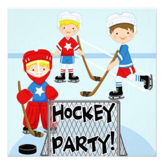 Hockey Party Customized Birthday Invitations