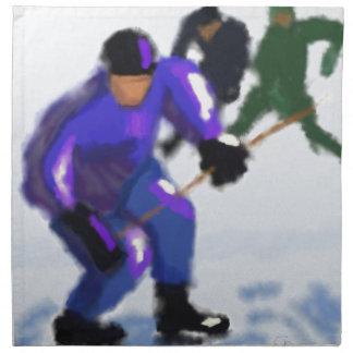 Hockey Play Art Napkin