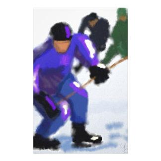 Hockey Play Art Stationery Design