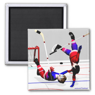 Hockey Player Action Magnet