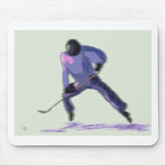 Hockey Player Art Mouse Pad