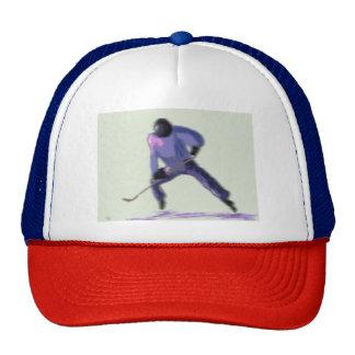 Hockey Player Art Trucker Hat