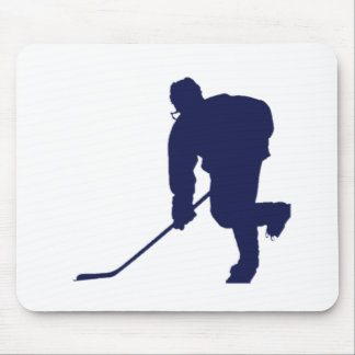 Hockey_Player_Blue Mouse Pad