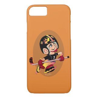 HOCKEY PLAYER CARTOON Apple iPhone 7 Barely There Case-Mate iPhone Case