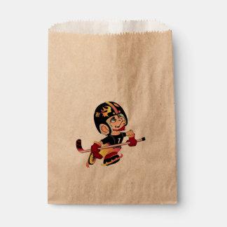 HOCKEY PLAYER CARTOON   bag Kraft Favor 2