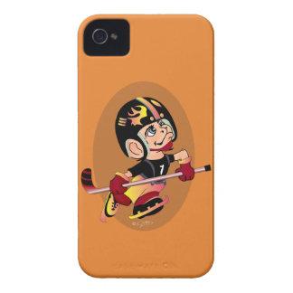 HOCKEY PLAYER CARTOON iPhone 4  BT iPhone 4 Cover