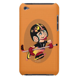 HOCKEY PLAYER CARTOON iPod Touch  Barely There iPod Case-Mate Case