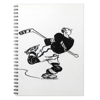 Hockey Player Cartoon Notebook