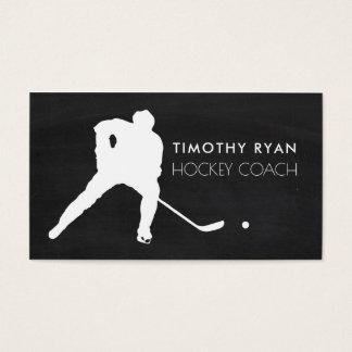 Hockey Player, Chalkboard Background, Hockey Business Card