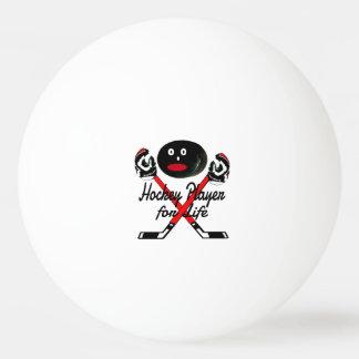 Hockey Player for Life Cartoon Ping Pong Ball