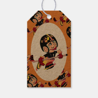 HOCKEY PLAYER  GIFT TAG Kraft Pack Of Gift Tags