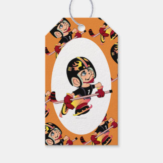 HOCKEY PLAYER  GIFT TAG MATTE