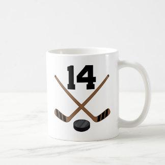 Hockey Player Jersey Number 14 Gift Coffee Mug